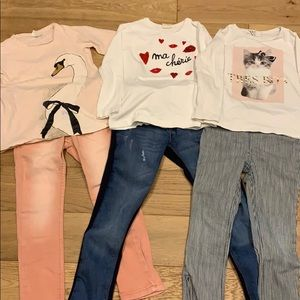 Three cute little girl outfits